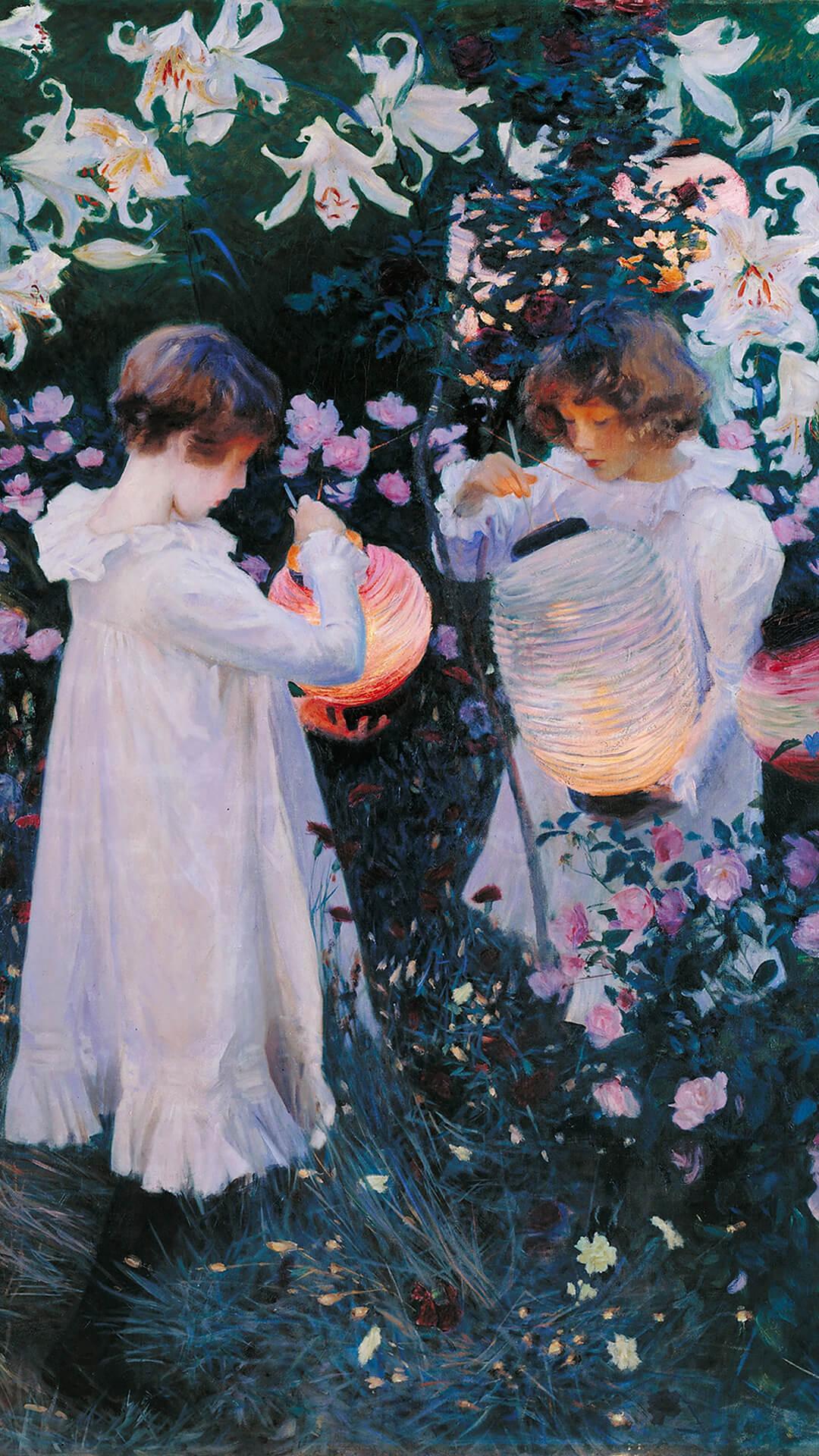 John Singer Sargent-Carnation Lily Lily Rose_1080x1920