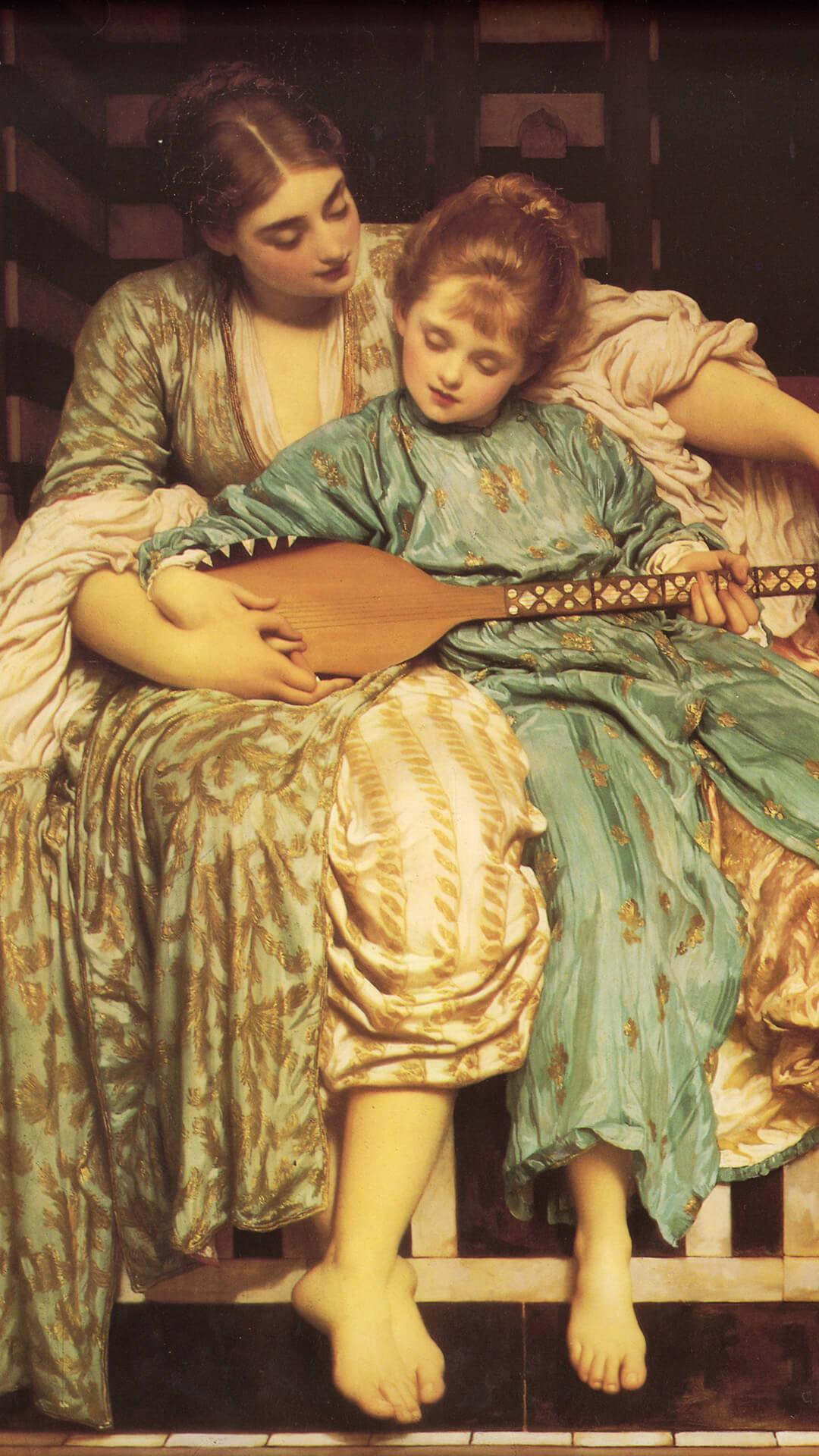 Edmund blair leighton-Music Lesson_1080x1920