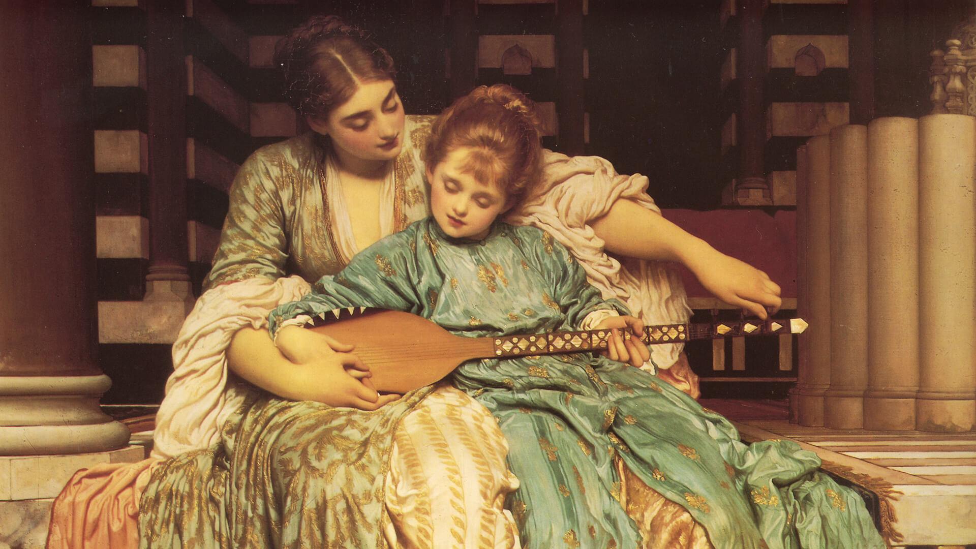 Edmund blair leighton-Music Lesson_1920x1080