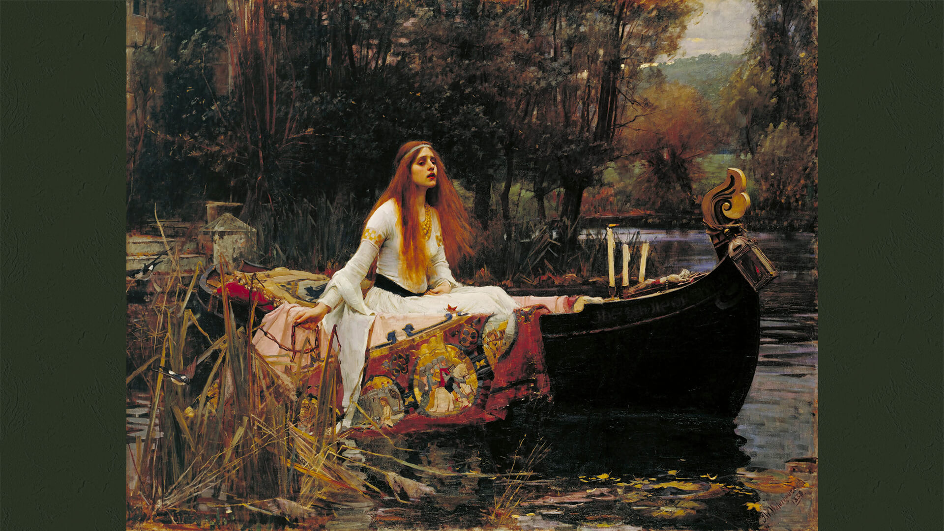 John William Waterhouse-The Lady of Shalott_1920x1080