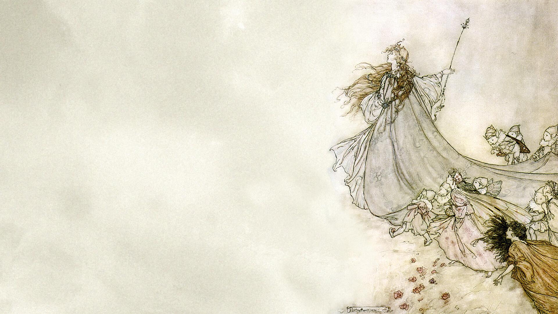 Arthur Rackham-Fairies away! We shall chide downright, if I longer stay_1920x1080