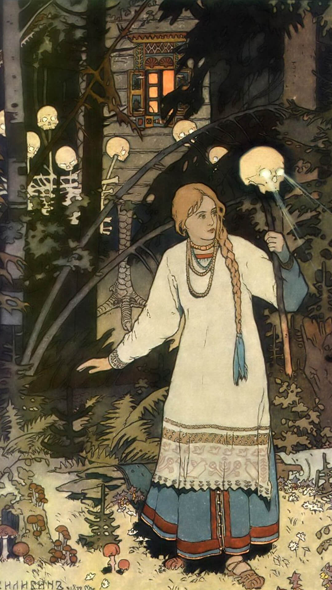 Ivan Bilibin-Vasilisa the Beautiful_1080x1920